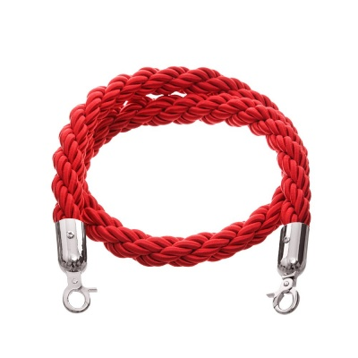 Red 1.5m twisted nylon barrier rope - VIP crowd control