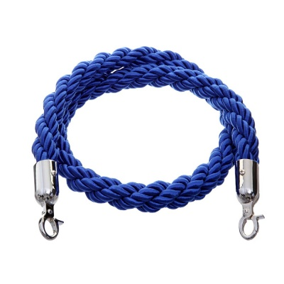 Blue 1.5m twisted nylon barrier rope - VIP crowd control