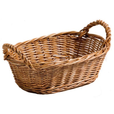 Chef-Hub Willow Basket With Handles Pack of 1