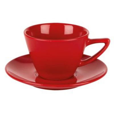Simply Red Conic Cup & Saucer