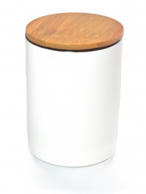 WHITE PORCELAIN STORAGE CANISTER WITH AIRTIGHT BAMBOO LID[1]