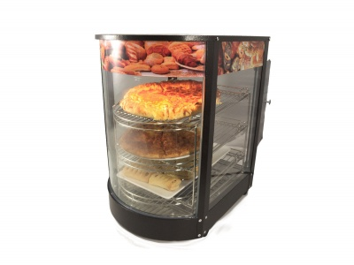 Chef-Hub Commercial Curved Glass Heated Display Cabinet