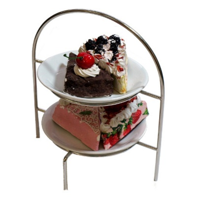 Chef-Hub Small 2 Tier Cake Stand