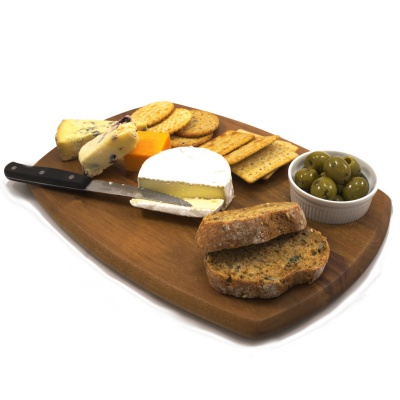 Chef-Hub Wooden Serving Board With Dip Bowl