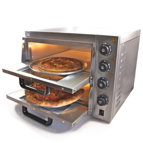 Double Deck Stone Base Pizza Oven 3Kw