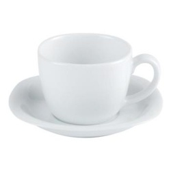 Porcelite Squared Tea Cup & Saucer Set 8oz