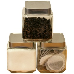 Chef-Hub Set of 3 Glass Storage Jars 1300ml