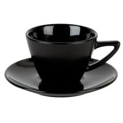 Simply Black Conic Cup & Saucer