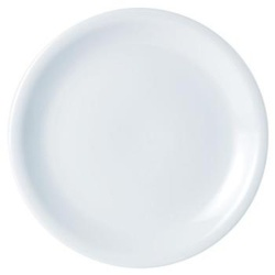 Porcelite Narrow Rim Plate 24cm/9.5''