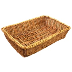 Deep Rectangle Wicker Basket