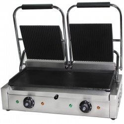 Electric Double Contact Grill / Panini Grill