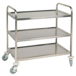 CHEF-HUB 3 TIER CATERING TROLLEY / TEA SERVING TROLLEY / CLEANING TROLLEY