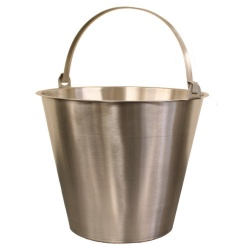 Chef-Hub Tig Welded Stainless Steel 12 L Bucket With Handle