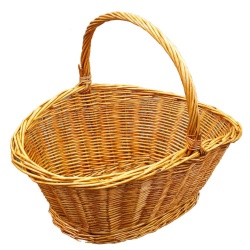 Oval Basket With Looped Handle